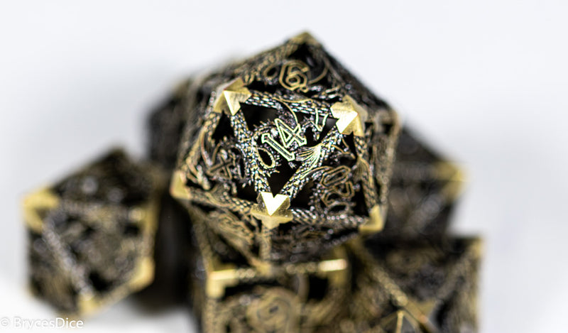 (Gold) Deadly Dragon Dice: Shards of Oblivion Hollow Metal *Preorder