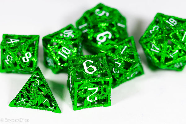 (Shimmering Green) Deadly Dragon Dice: Shards of Oblivion Hollow Metal