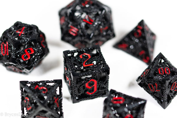 (Stoic Black) Deadly Dragon Dice: Shards of Oblivion Hollow Metal