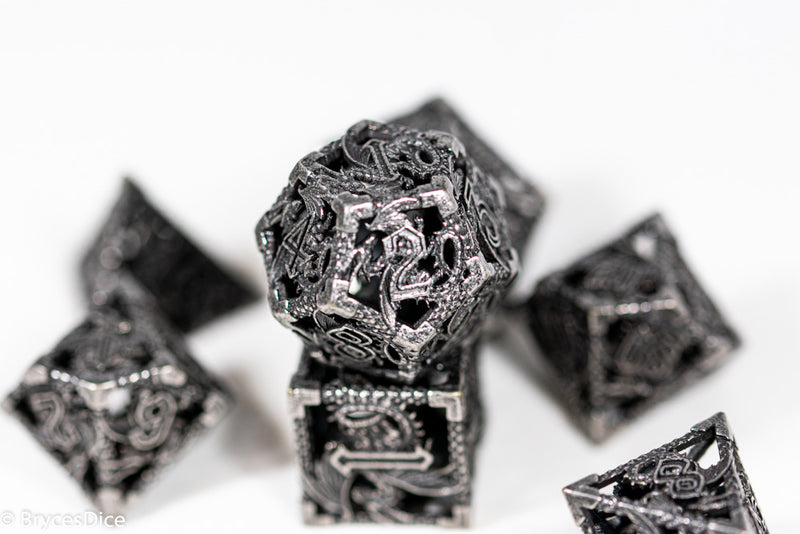 (Grey) Deadly Dragon Dice: Shards of Oblivion Hollow Metal