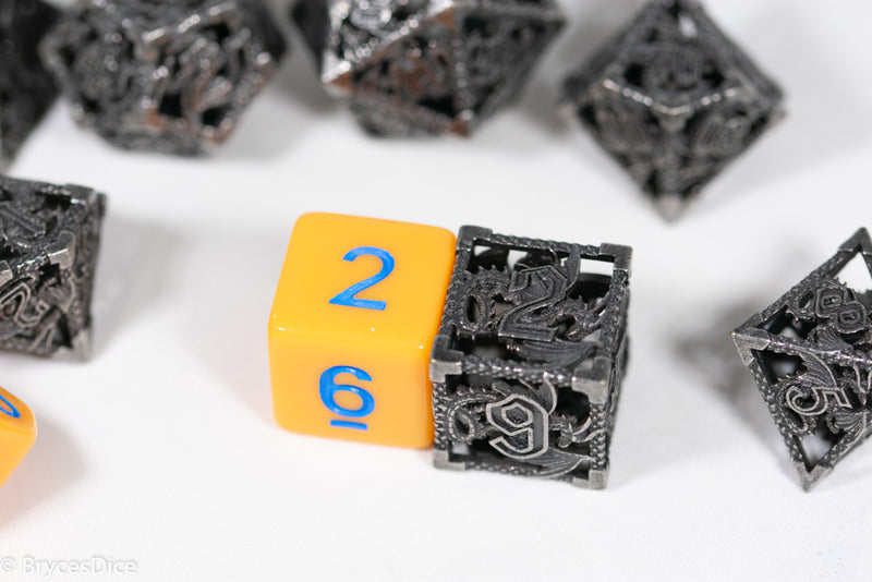 (Rainbow Metal) Deadly Dragon Dice: Shards of Oblivion Hollow Metal