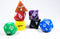 Rainbow Opaque 7 Die Set Polyhedral Dice by BrycesDice RPG Magic D&D Unique
