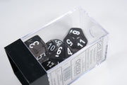 New Smoke/White Translucent 7-Die Chessex Sets Made in Germany CHX 23078