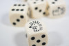 Hedgehog Opaque Dice 16mm D6 Koplow Dice - with Black Pips