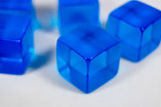 Blank Translucent Blue Dice / Counting Cubes 16mm D6 Square RPG Gaming Dice DIY