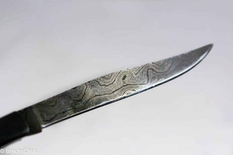 "(Steel) 9"" Damascus Pocket Knife"