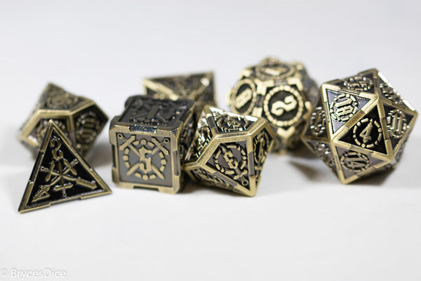 Gold Sword Strengthened Metal 7-Dice Set