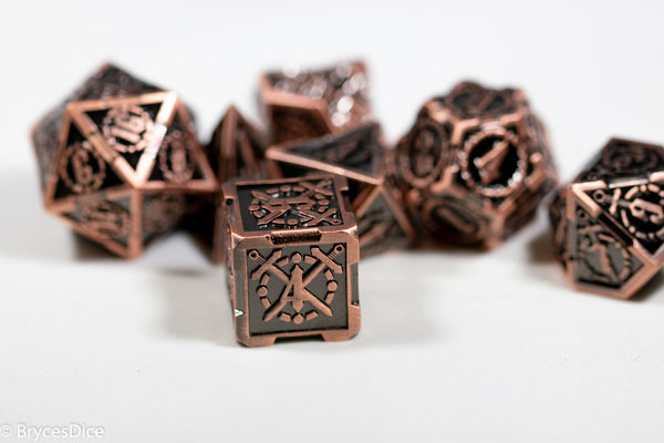 Copper Sword Strengthened Metal 7-Dice Set