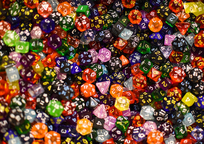 Bulk Roll 4 Initiative Dice d4, d6, d8, d12, d20 (Factory Seconds)