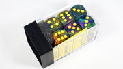 CHX 27649 16mm d6 Block Festive Rio w/ Yellow Numbers