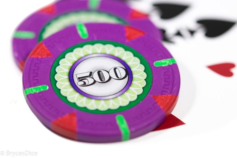 13.5g 'Basic' Poker Chip (500) Purple/green/red [sold by the piece]
