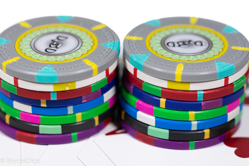 13.5g 'Basic' Poker Chip (50) Blue/grey/white [sold by the piece]