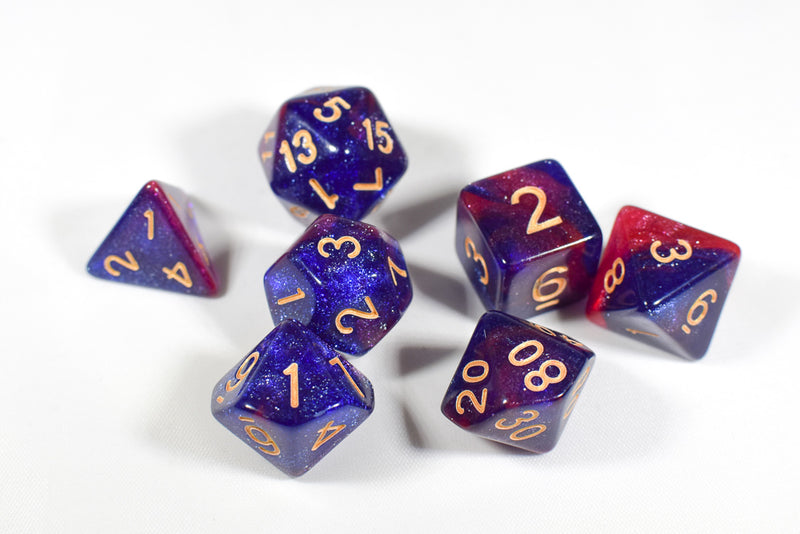 Purple/Blue Galaxy Dice by Udixi Dice
