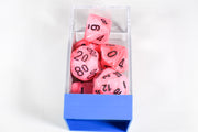 Vortex Snow Pink/Black 7-Die Set Lab Dice Pre-order *Read Terms in Description*