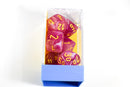 Leaf Fuschia/Yellow Luminary 7-Die Set Lab Dice