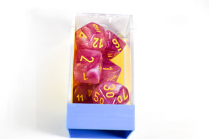 Leaf Fuschia/Yellow Luminary 7-Die Set Lab Dice Pre-order *Read Terms in Description*