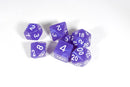 Purple Pearl Moonstone Dice Set