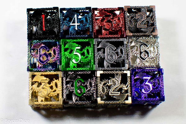 Single D6 Deadly Dragon Dice (Multiple Colors)