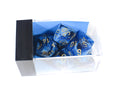 Chessex Vortex Navy Blue w/ Gold Numbers Set Of 7 Dice CHX TPY26