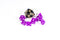Purple with Glitter Miniature Poly Dice Set Small (7) RPG DnD Mini