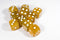 Gold with Glitter D6 16mm Pipped Dice (sold by the piece)