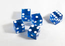 Dark Blue Casino Dice d6 19mm Razor Edge No Serial Numbers or Names Clean