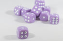 Light Purple Lavender Opaque Dice Set 16mm 6-Sided RPG Magic D&D Unique with White Pips Rolls