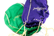 Purple and/or Green Crown Royal Gift Bag  Dice Bag  Lining Counter Pouch