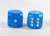 OOP Rare 30mm Velvet Blue Dice New RPG DnD with Silver Pips by Chessex Out of Print