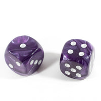 OOP Rare 30mm Velvet Purple Dice New RPG DnD with Silver Pips by Chessex Out of Print