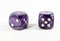 (1) OOP Rare 30mm Velvet Purple Dice New RPG DnD with Silver Pips by Chessex Out of Print