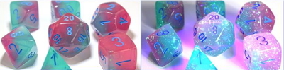 Gemini Polyhedral Gel Green-Pink/blue 7-Die Lab Pre-order *Read Terms in Description*