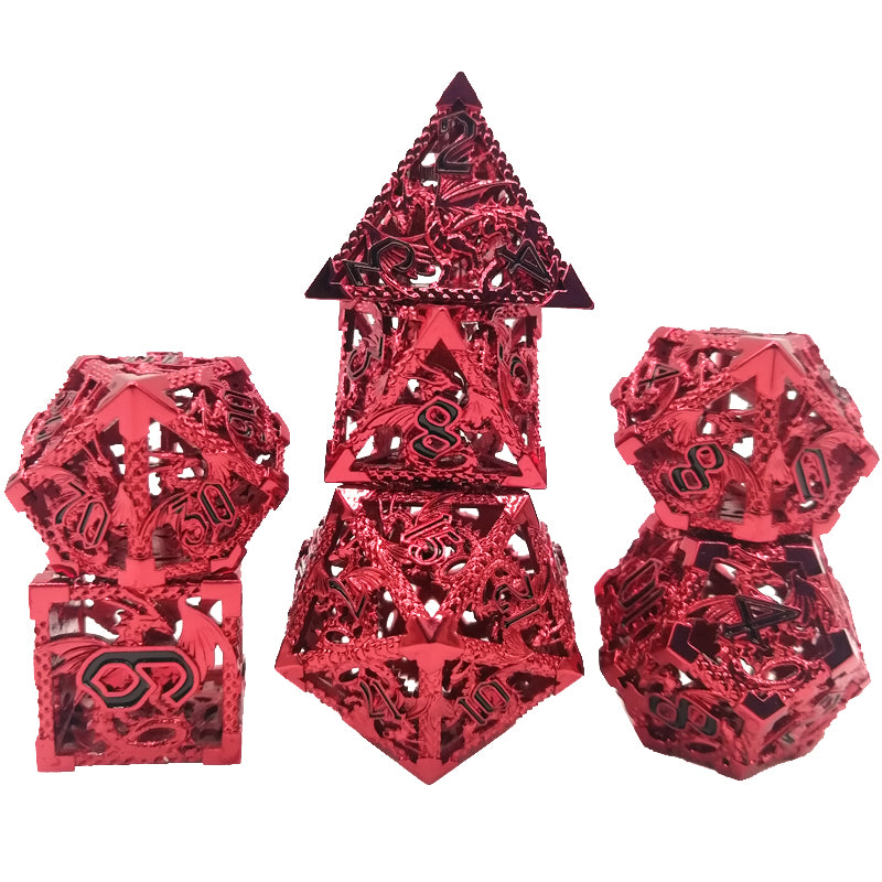 (Ruthless Red) Deadly Dragon Dice: Shards of Oblivion Hollow Metal