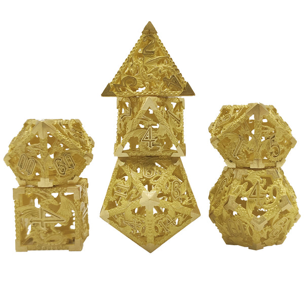 (Base Brass) Deadly Dragon Dice: Shards of Oblivion Hollow Metal