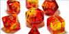 Gemini Polyhedral Red-Yellow/gold 7-Die Lab Pre-order *Read Terms in Description*