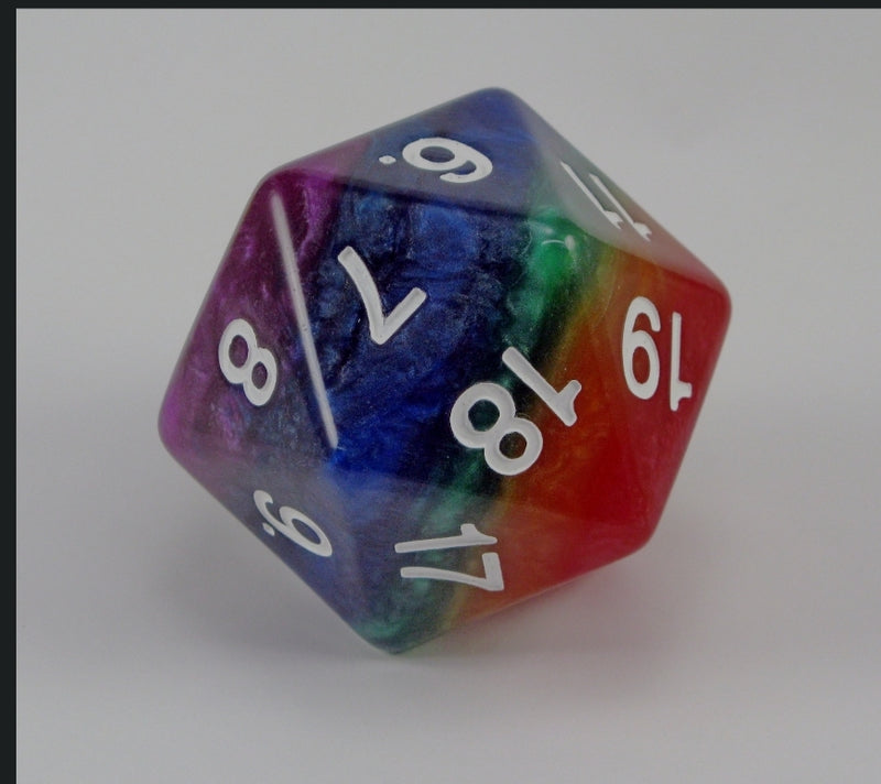 55mm Rainbow d20 Koplow Limited Edition