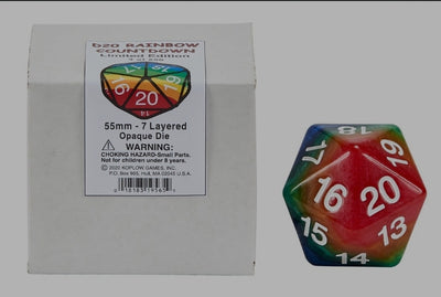 55mm Rainbow d20 Koplow Limited Edition preorder