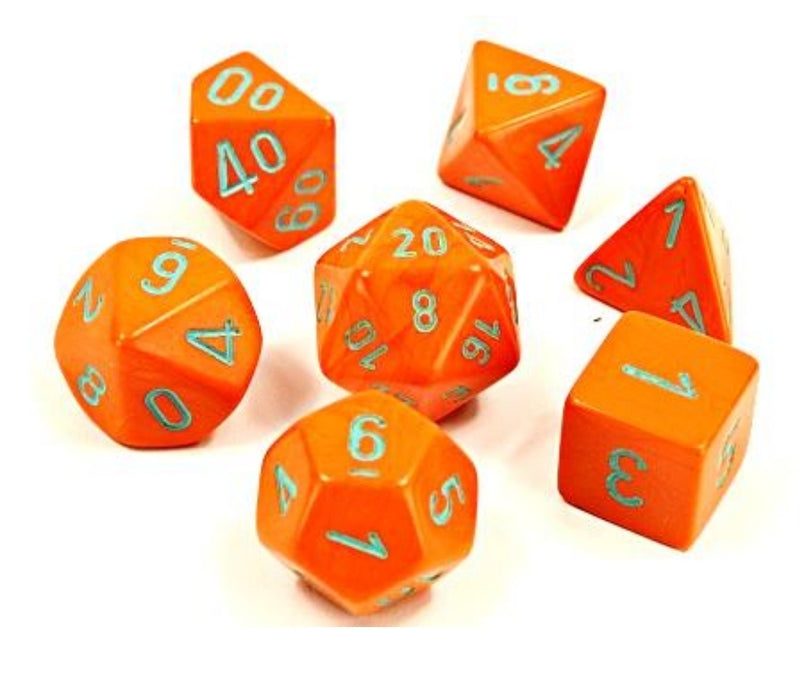 Lab Dice Heavy Dice Polyhedral Orange/turquoise 7-Die Set (30038)
