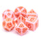Rosy Cheeks Ancient 7-Dice Set Role Playing Dungeons and Dragons Dice (Light Salmon Pink)