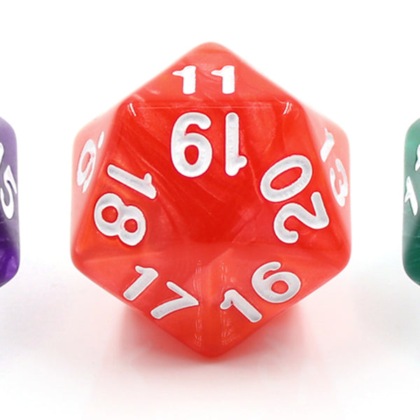Pearl Red Countdown/Spindown d20 22mm