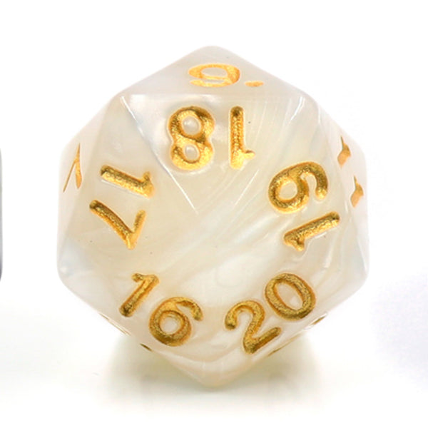 Pearl White Countdown/Spindown d20 22mm