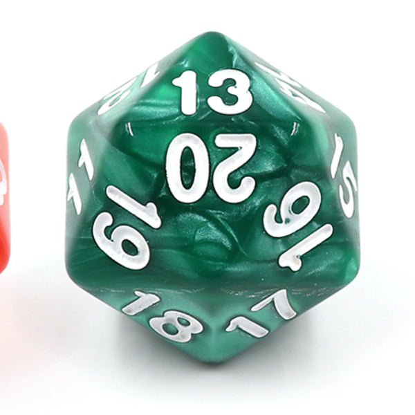 Pearl Green Countdown/Spindown d20 22mm