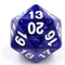 Pearl Blue Countdown/Spindown d20 22mm