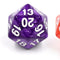Pearl Purple Countdown/Spindown d20 22mm