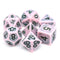 Single Notes Ancient 7-Dice Set Role Playing Dungeons and Dragons Dice (Light Pink/Purple)