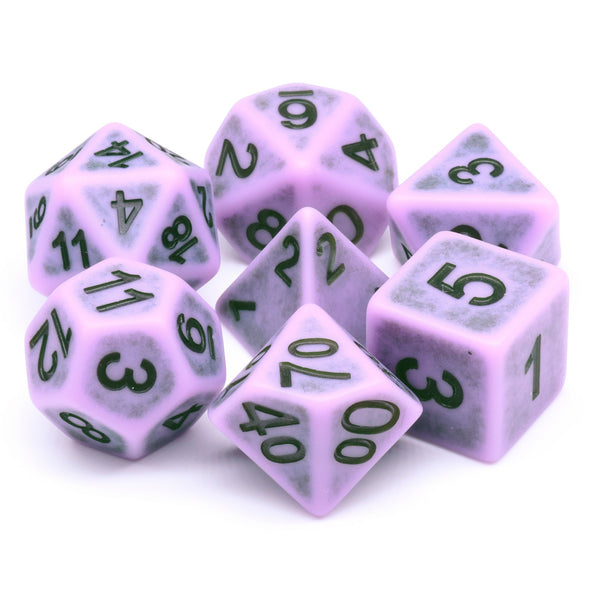 Swamp Fog Ancient 7-Dice Set Role Playing Dungeons and Dragons Dice (Purple)