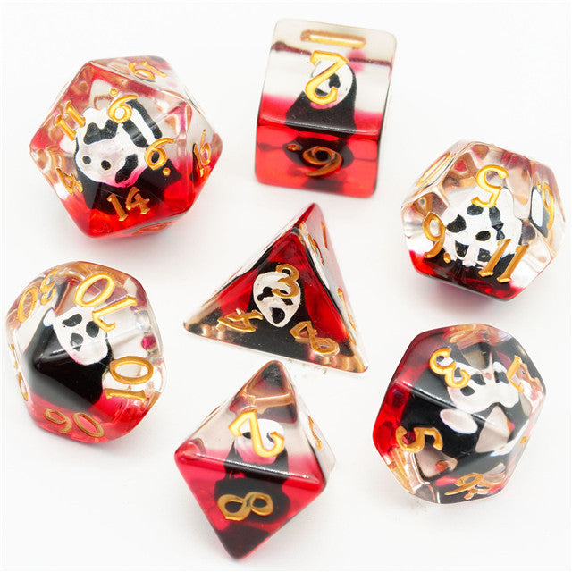 Halloween Mask Dice (Red) 7-Dice Set RPG