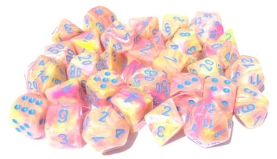 Festive Allusion/blue 7-Die Set Lab Dice