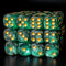Green and Black 16mm Glitter Pipped Dice