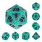 Green Ancient 7-Dice Set